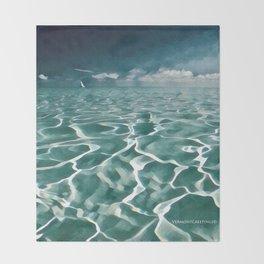 Sailing Ocean Blues Throw Blanket