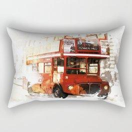 London Bus Rectangular Pillow