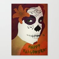 calavera Canvas Prints featuring Calavera by Eveline