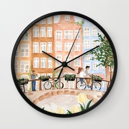 Amsterdam in the Spring Wall Clock