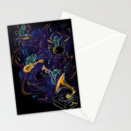 Two Turntables and a Gramophone  Stationery Cards