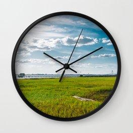 Charleston's Pitt Street Bridge III Wall Clock