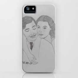 Clark Gable and Hedy Lamarr iPhone Case