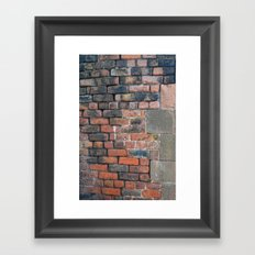 street brick Framed Art Print