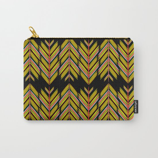 Yellow and orange feathers Carry-All Pouch