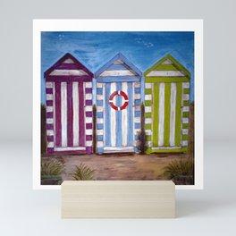 Beach Huts Mini Art Print
