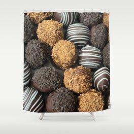 Truffle Chocoholic Fudge Mania Shower Curtain
