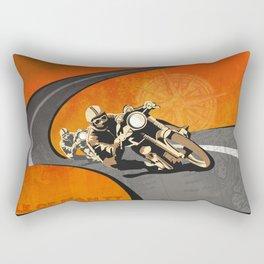 vintage Isle of Man TT motor race poster Rectangular Pillow