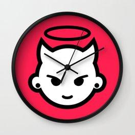 Devious emoji Wall Clock