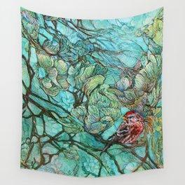 The Aquamarine Labyrinth (detail no. 2) Wall Tapestry