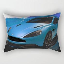 Aston Martin Vanquish S Digital Painting | Automotive | Car Rectangular Pillow