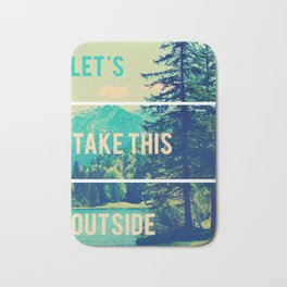 Take This Outside Nature Blocks Bath Mat
