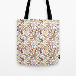 Adorable Otter Swirl Tote Bag