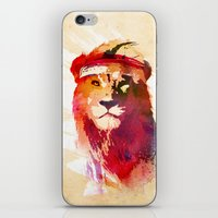 lion iPhone & iPod Skins featuring Gym Lion by Robert Farkas