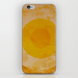 Yellow circle iPhone Skin