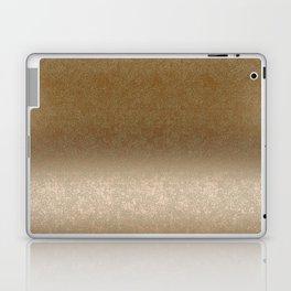 Golden gradient ornament background Laptop & iPad Skin