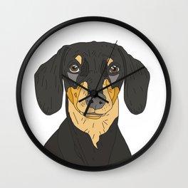 Dachshund Puppy Wall Clock