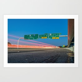Highway to Light Art Print