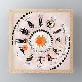 Zodiac Wheel Framed Mini Art Print