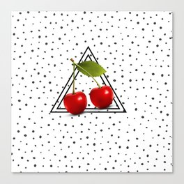 Cherries and Pyramid Canvas Print
