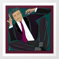 suit Art Prints featuring suit by Feje