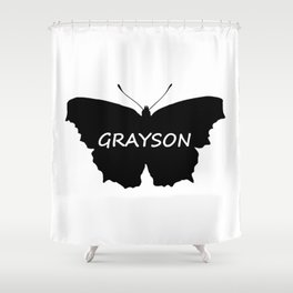 Grayson Butterfly Shower Curtain