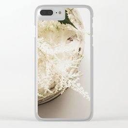 White Naked Cake Clear iPhone Case