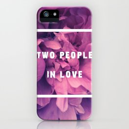 Two People In Love iPhone Case