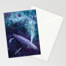 Galaxy Whale Stationery Cards