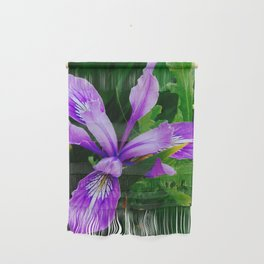 Wild Purple Iris Wall Hanging