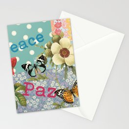 Peace Paz Pax Pace Stationery Cards