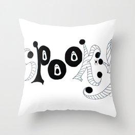 Spooky! Throw Pillow