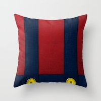 video game Throw Pillows featuring Video Game Poster: Plumber by Justin D. Russo