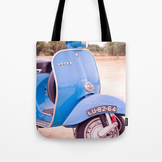Mod Style in Blue Tote Bag