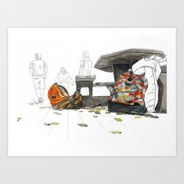 Almuerzo Art Print