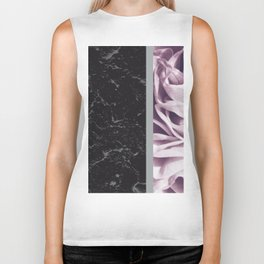 Light Purple Flower Meets Gray Black Marble #6 #decor #art #society6 Biker Tank