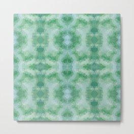 Kaleidoscopic design in soft green colors Metal Print