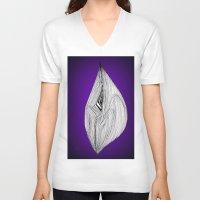spaceship V-neck T-shirts featuring Spaceship by Ajinkya Pawar