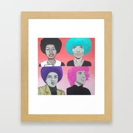 Assata & Angela & Kathleen & Elaine Framed Art Print
