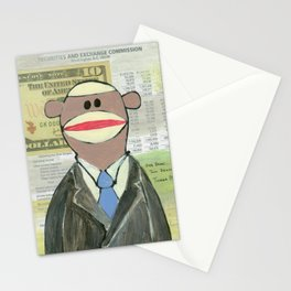 Sock Monkey 129: The Bean Counter Stationery Cards