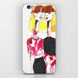 Bleached twins iPhone Skin