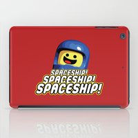 spaceship iPad Cases featuring Spaceship! by D-fens