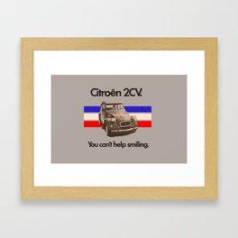 Citroen 2CV Framed Art Print