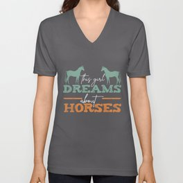 Horses Quote | Girl Rider Horseback Riding Horse Unisex V-Neck