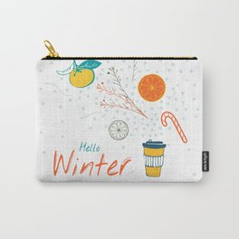 Hello Winter! Cup of warm winter drink Carry-All Pouch