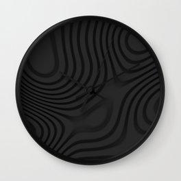 Organic Abstract 01 BLACK Wall Clock