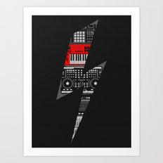 Electro Music  Art Print