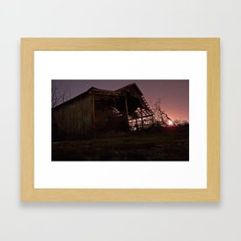 The House With the Glowing Sky Framed Art Print