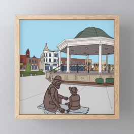 Fabulous Fairfield Blue Framed Mini Art Print