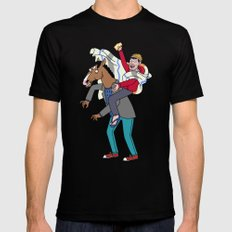 BoJack Crossing the Alps Black Mens Fitted Tee SMALL